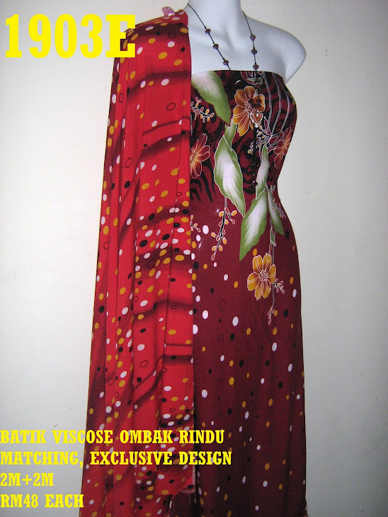 BVM 1903E: BATIK VISCOSE OMBAK RINDU MATCHING, EXCLUSIVE DESIGN, 2M+2M
