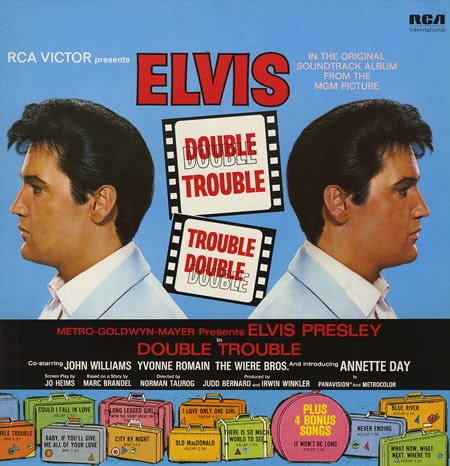 double elvis Elvis filmed double trouble in july - august 1966, and it was released april 5, 1967 the original working title of the film was you're killing me, but double trouble worked better.
