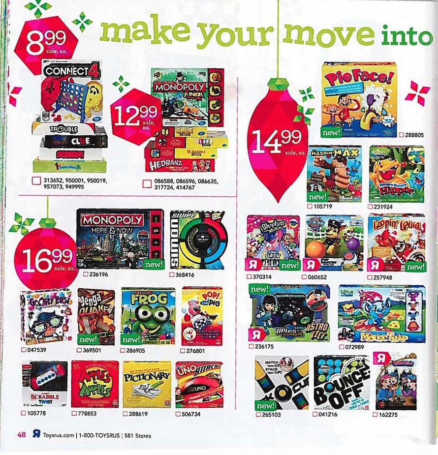 Toy R Us Store Catalog : Toys r us holiday toy book ad scan