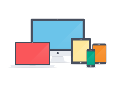 Apple devices - Flat icons (PSD)