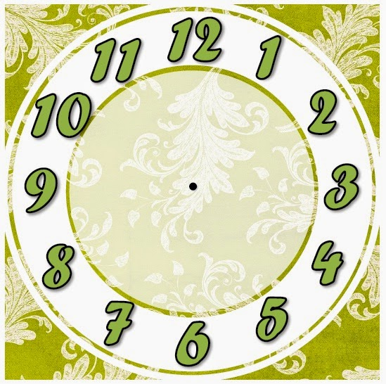 clock face template