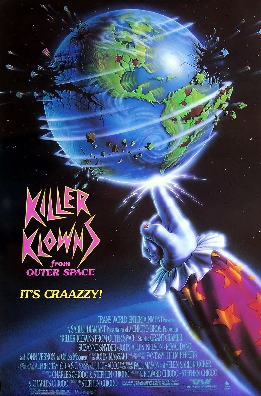 Killer klowns from outer space 1988 dinner a movie for Return of the killer klowns from outer space