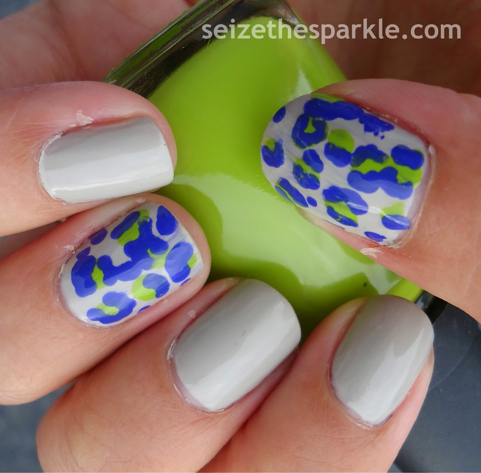 Animal Print Accent Manicure
