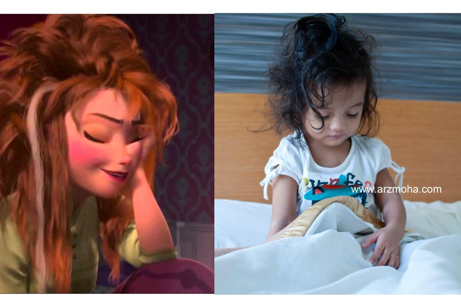 Cik Puteri, Anna Frozen, Princess, Wake Up, Holiday, Girl, Kids