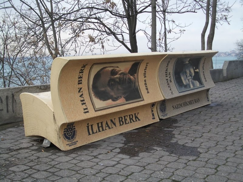 Book Benches in Istanbul