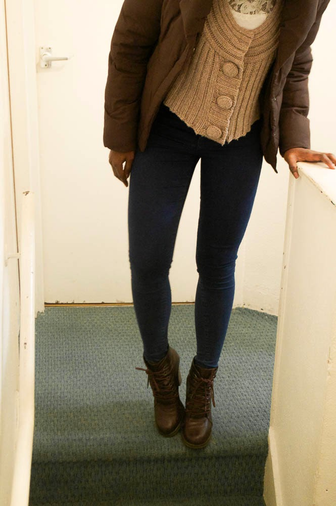 topshop jeans; layering