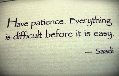 Patience Is The Key Which Solves All Problems.