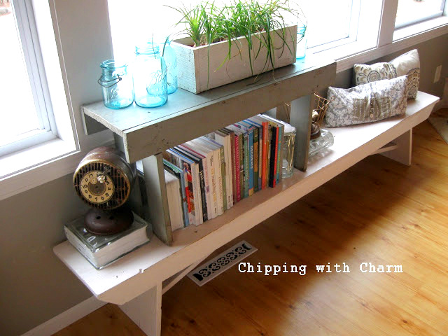 From benches to bookshelves... and more! Inspiring idea by Chipping with Charm, featured on I Love That Junk