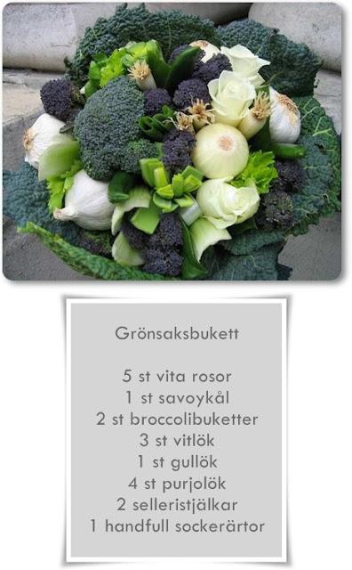 bukett med grönsaker