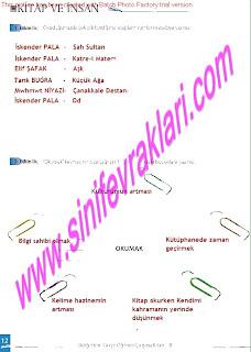 8.Sinif Turkce Enderun Yayinlari Calisma Kitabi Cevaplari Sayfa 12