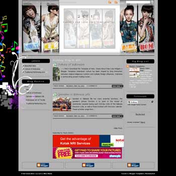 2 Ne 1 Blogger Template. template music for blog. template 3 column for blog