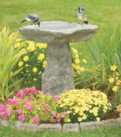 Mil ideas para la casa y el jardin comederos y - Fuente para pajaros ...