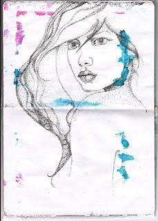 pointilism sketch