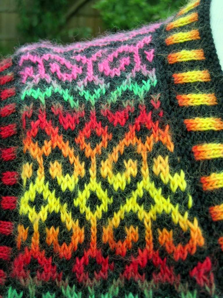 Knitting Decreases Slant Left : Knitting decreases on the knit side of