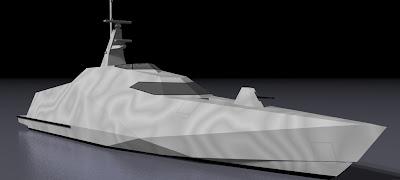 Kapal patroli Siluman 32m Rancangan LOMOCean Design, Selandia Baru.