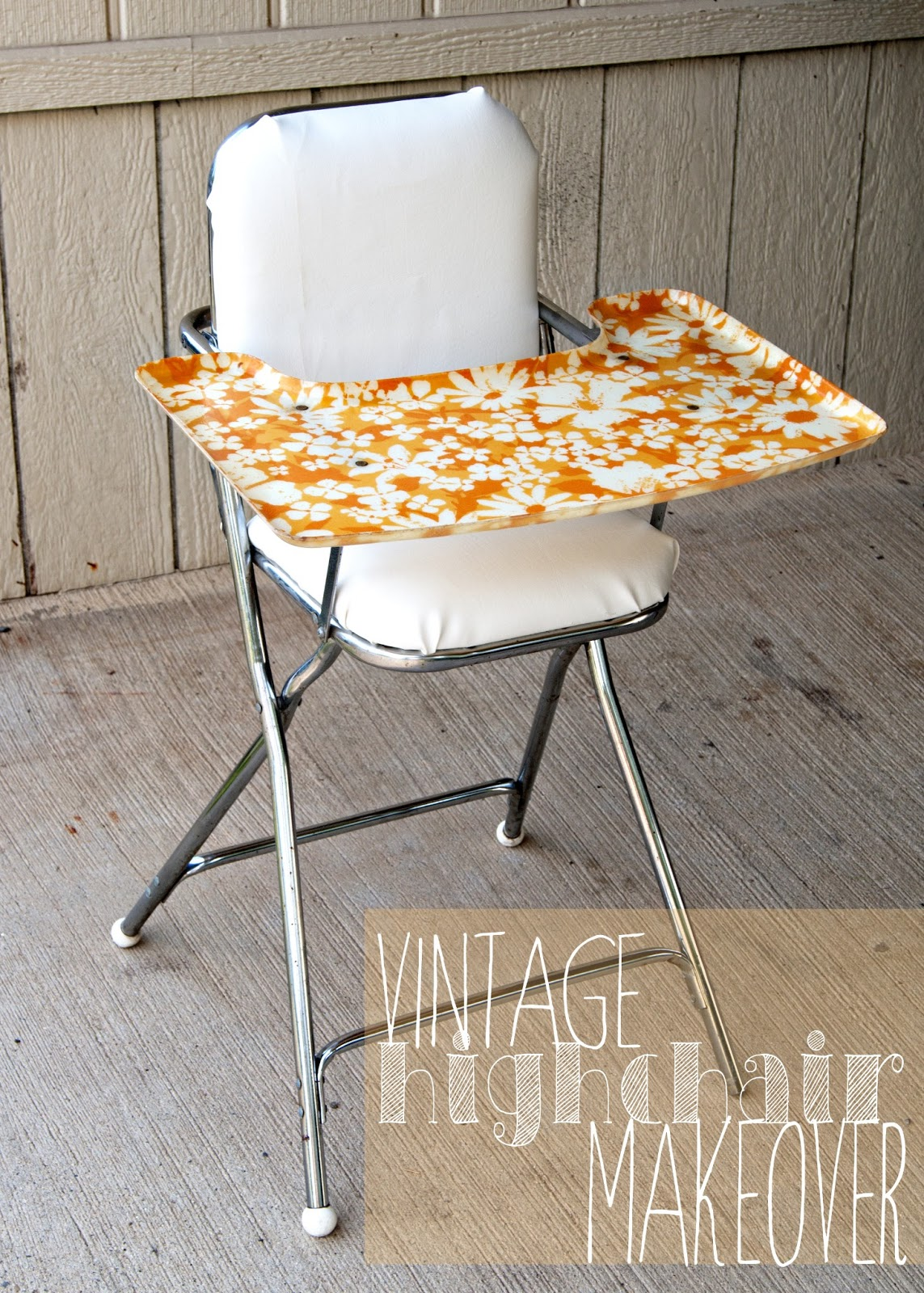 Vintage wooden high chair - Vintage Highchair Makeover