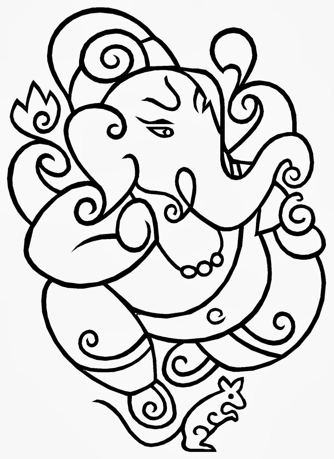 Line Art Vinayagar : Best collection store sri ganesh
