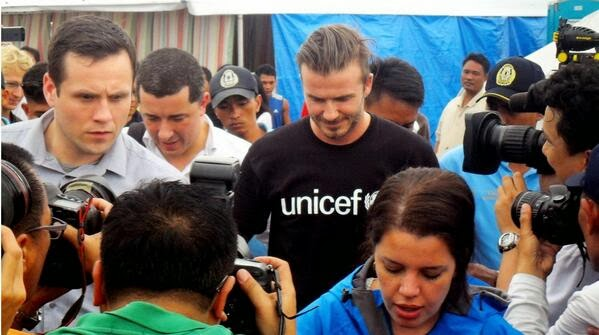 David Beckam visits Tacloban City today