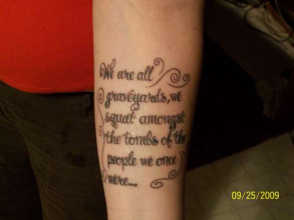 Funny pictures gallery life quote tattoolife quote for Tattoo about life
