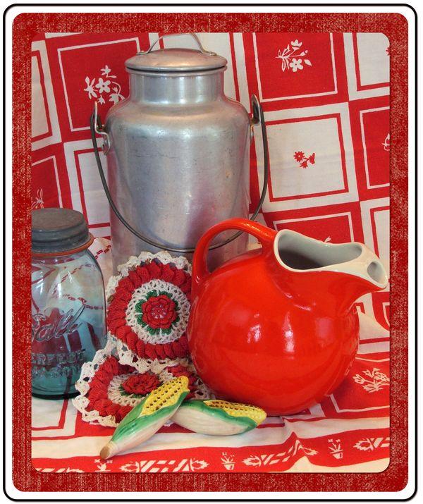 c dianne zweig kitsch n stuff red and white kitchen