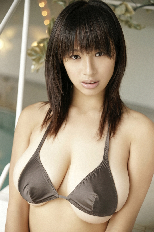 Asian girl with big tits masturbates pussy 10
