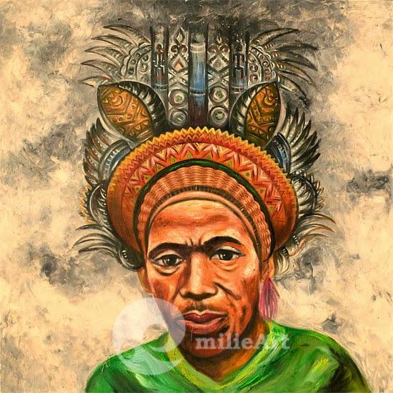 lukisan wajah etnik