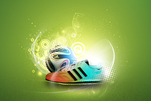 Photoshop Tutorial Creative Abstract Adidas Poster
