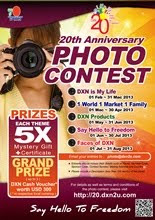 DXN&#39;s 20th Anniversary Photo Contest (1st Feb 2013 - 31st Aug 2013)