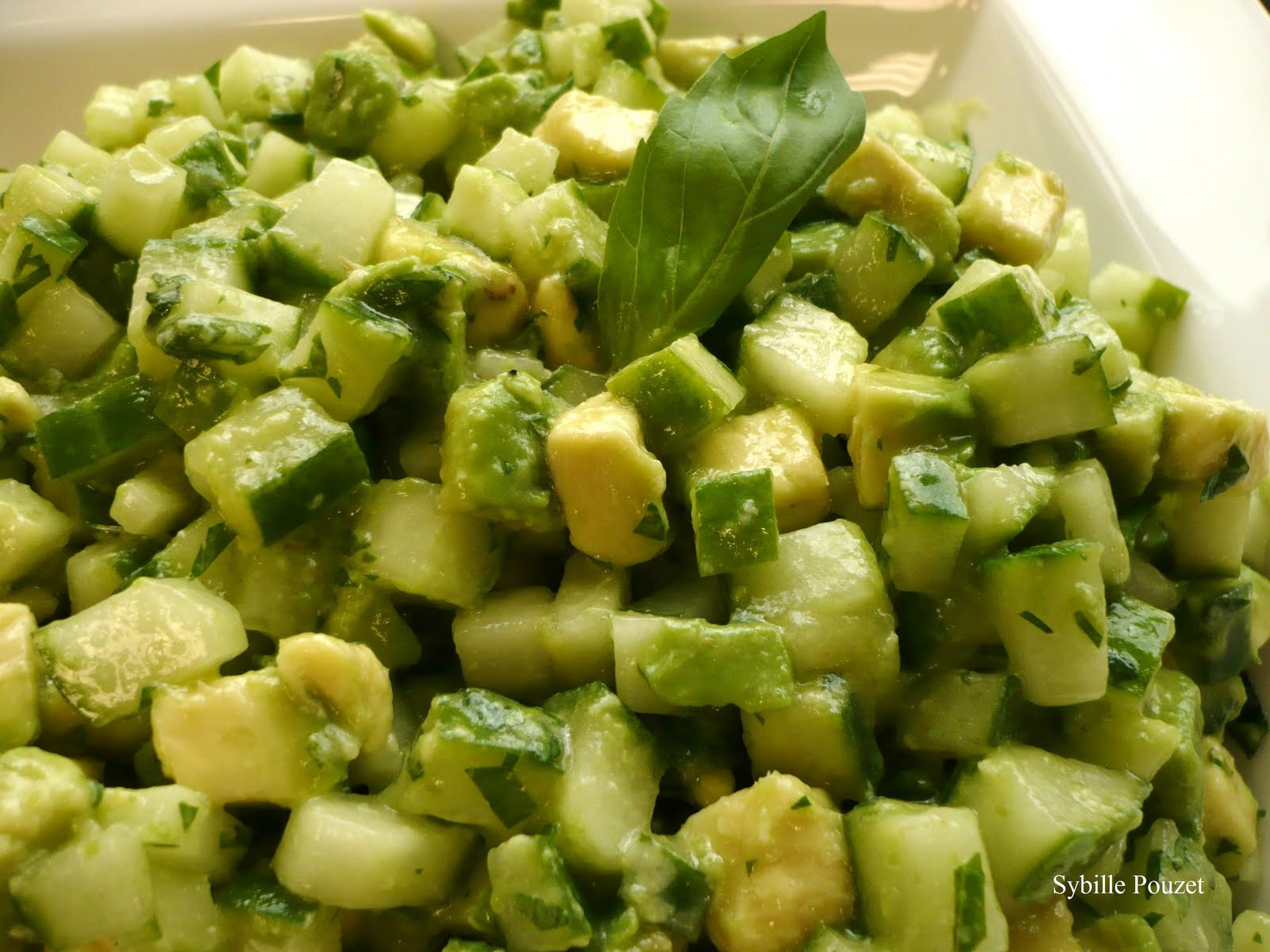 Cucumber Avocado Salad Recipe — Dishmaps