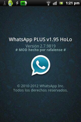 Aplicaciones y juegos para Android. : Whatsapp PLUS holo ...