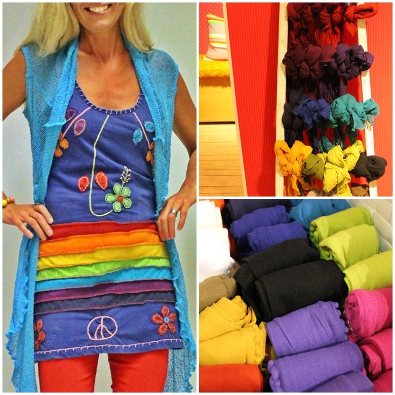 leggings och scarves i fina färger