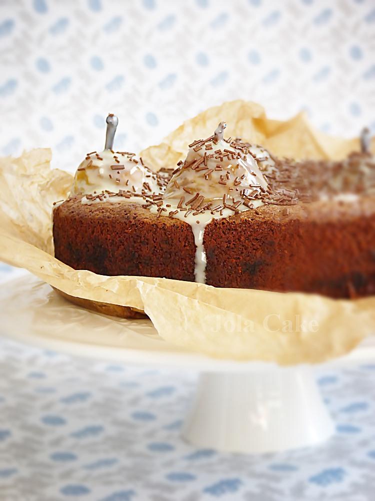 ciasto czekoladowo, migdałowo, guszkowe