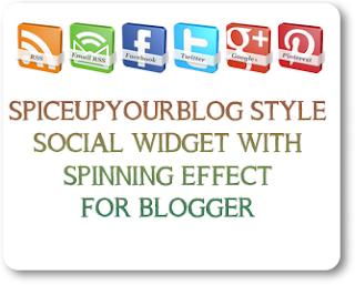 Add SpiceUpYourBlog Style Social Widget In Blogger