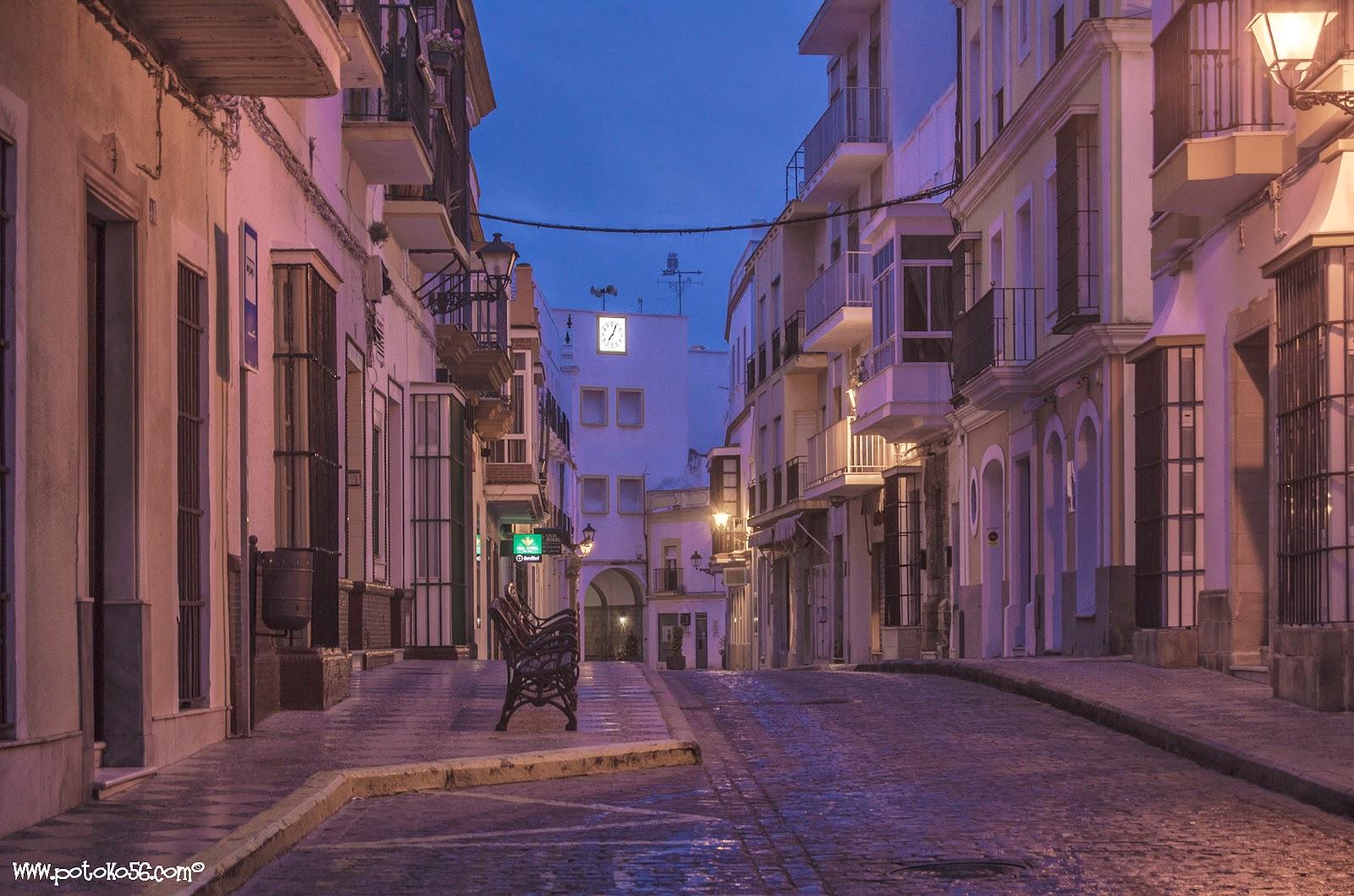 Vista de la Calle Veracruz hasta la Plaza de Andalucía Rota
