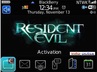 Tema Resident Evil - BlackBerry Theme