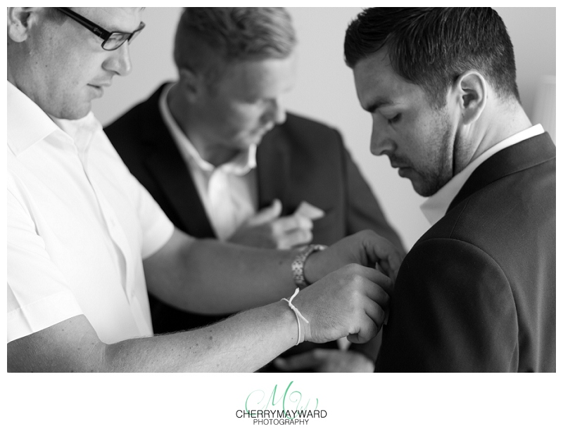 Groom getting ready with best man, Koh Samui Wedding