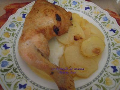 Asado de pollo al limón