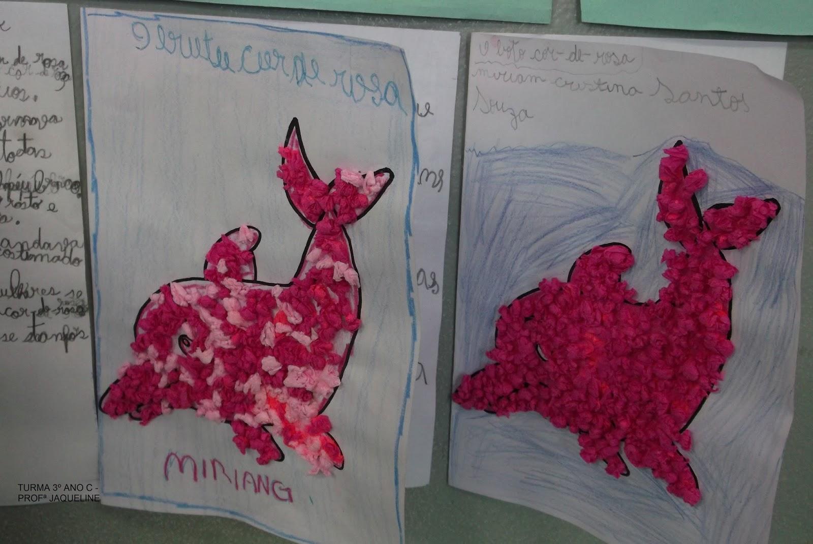 Famosos BRINCANDO COM CORES: Atividades Folclore: Boto Cor de Rosa e Saci. WS02