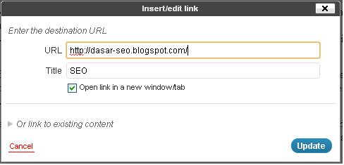 SEO Google Setting untuk Link di Wordpress.com