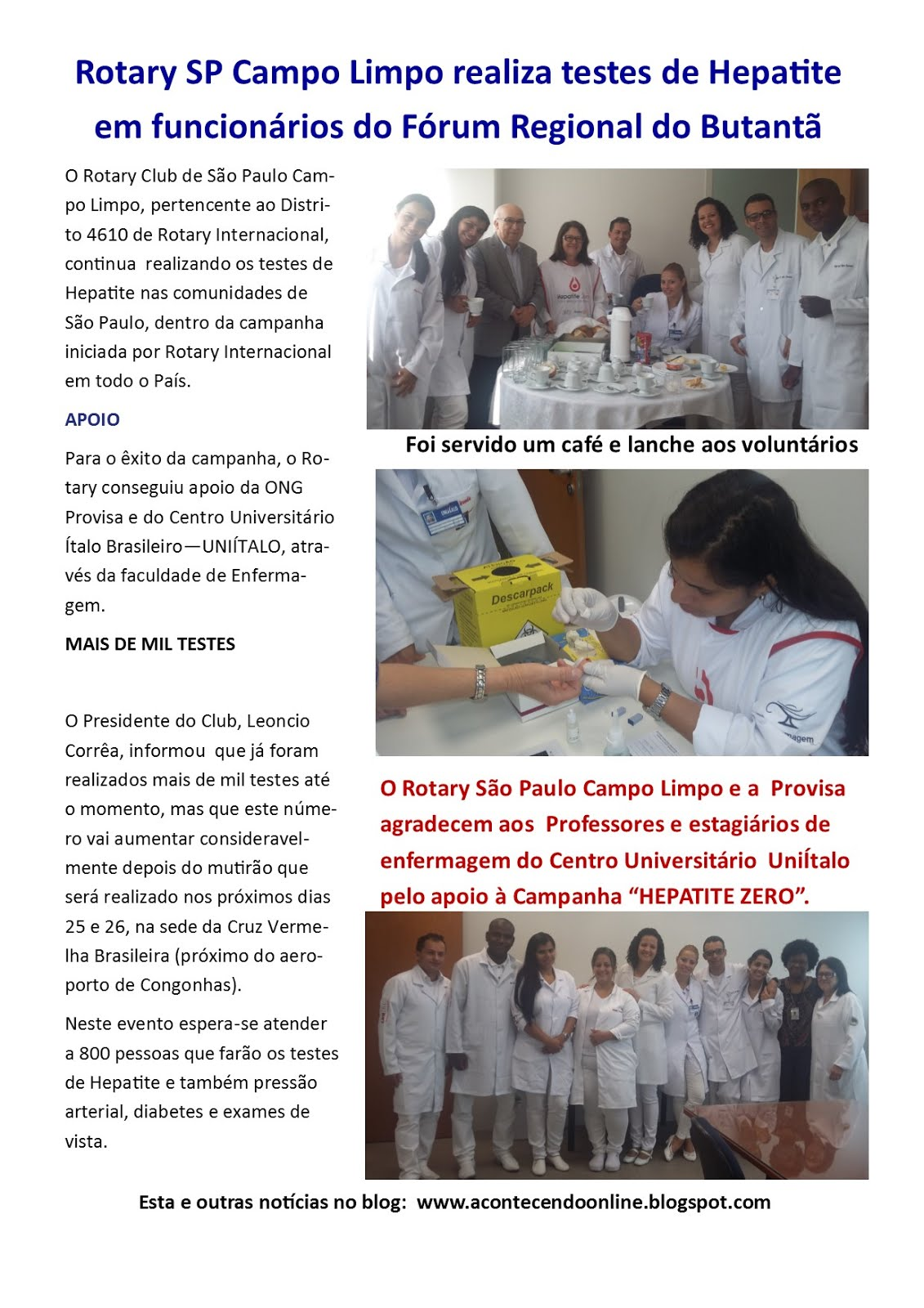 Provisa e Rotary no combate a Hepatite