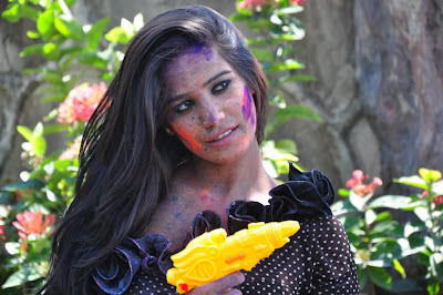 Hot Poonam Pandey Promotes Water Less Holi Festival