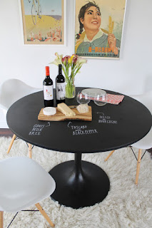 Unusual Black Dining Room Tables For Small Spaces on White Rug near the White Chairs and White Wall