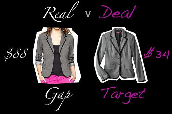 A Gap blazer verse a Target blazer, Real v Deal