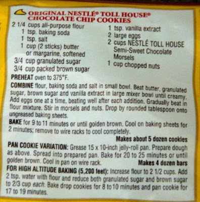 Nestle Toll House Cookie Cake Nutrition