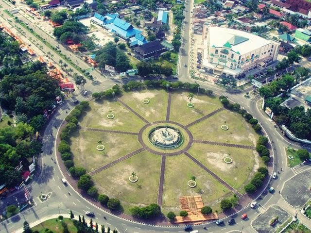 Kota Palangkaraya tampak dari atas