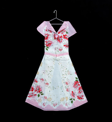 pink floral hanky dress