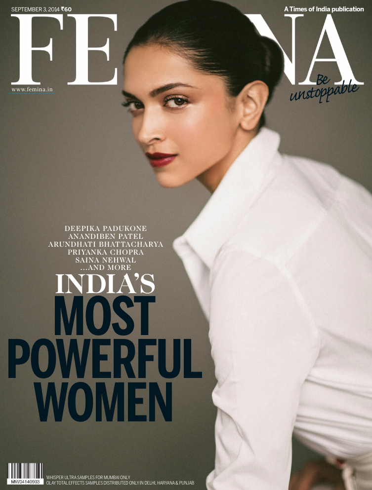 Deepika Padukone - Femina Magazine, India, September 2014