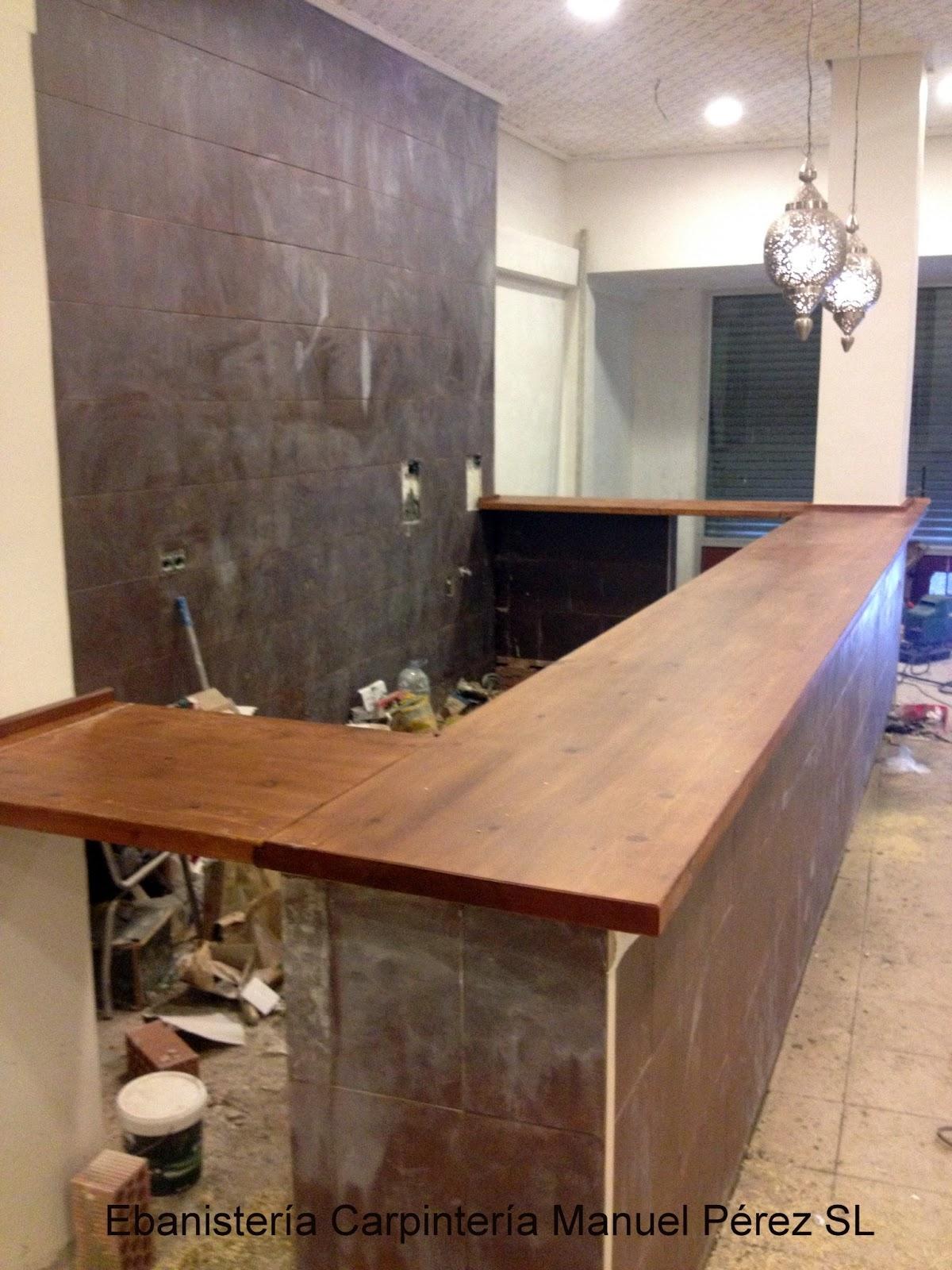 Ebanisteria carpinteria manuel perez zaragoza barra for Barras en madera para bar
