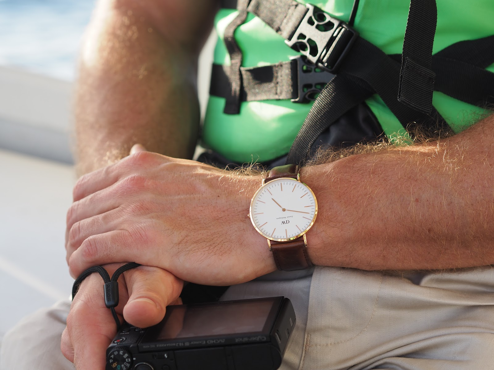 Daniel Wellington watch with life jacket
