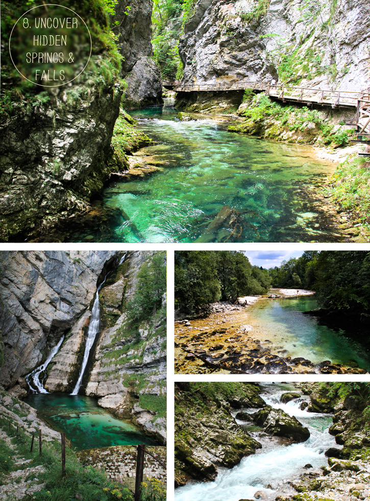 Vintgar Gorge, Savica Waterfall, Komarča, Bohinj source, Bled source, 10 things to do in Slovenia, Slovenia tour guide
